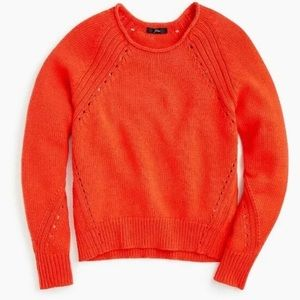 J.Crew Pullover Sweater With Pointelle Stitching